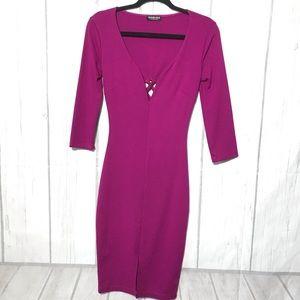 FashionNova fuchsia dress size Small D119